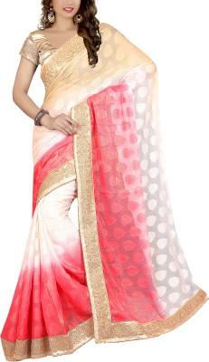 Awesome Self Design Fashion Georgette, Jacquard Sari