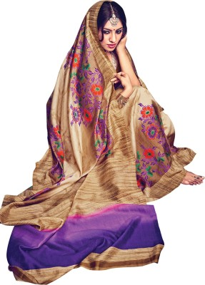 Shop Plaza Embriodered Daily Wear Silk Sari