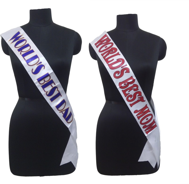 Atpata Funky World's Best Mom & Dad Sash Combo
