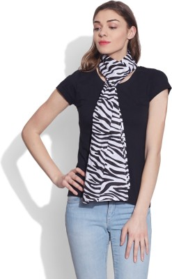 Very Me Animal Print Cotton Voile Women,s Scarf
