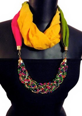 MyClosetNMore Embellished Cotton Blend Women's Scarf