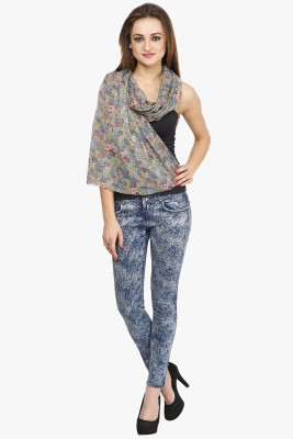 Citypret Floral Print Polyester Women's Scarf