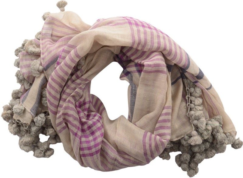 Dushaalaa Checkered Silk/Coton Women's Scarf