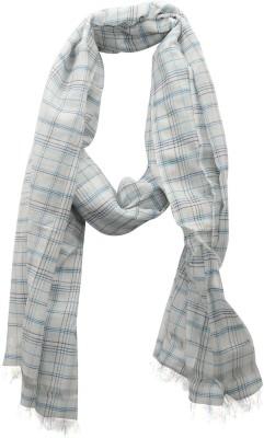 Dushaalaa Checkered Silk/Coton Womens Scarf