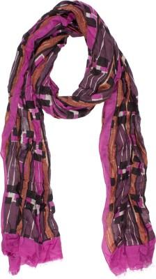 Amaryllis Geometric Print Cotton Silk Women's Scarf