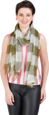 Shyam & Co. Of North Pvt. Ltd. Checkered 100% Fine Wool Women's Scarf
