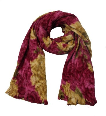 AS42 Floral Print Wool Women's Stole