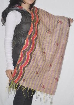 Lal Haveli Printed Raw Silk Girl,s, Women's Stole