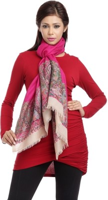 Aapno Rajasthan Embroidered 50% Pashmina, 50% Wool Women,s
