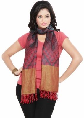 Little India Silk Self Design Women's Shawl