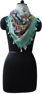 Vedic Deals Floral Print Cotton Women's Scarf
