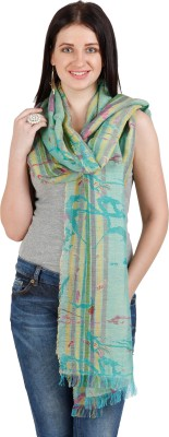 Shyam & Co. Of North Pvt. Ltd. Printed 60% Linen 40% Cotton Women's Scarf