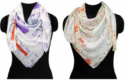Fabtone Printed Polyester Women's Scarf