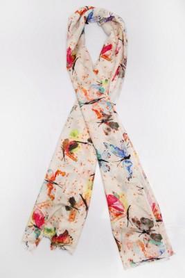 Toscee Printed 90% Modal 10% Silk Women's Scarf