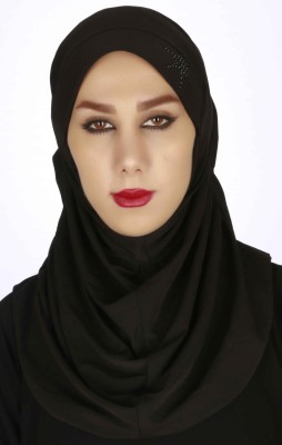 Islamic Attire Solid Cotton Lycra Women's Scarf