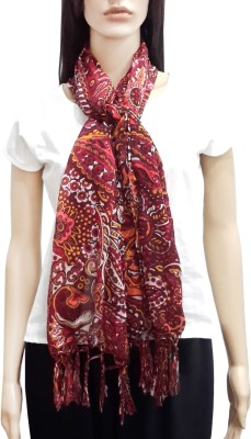 Lifestyle Retail Floral Print Cotton Women's Scarf