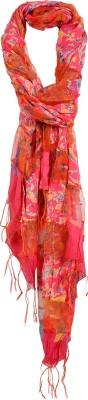 Crunchy Fashion Floral Print Silk Women,s Scarf