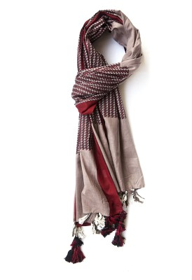 Niv Collection Self Design COTTON Girl's Scarf