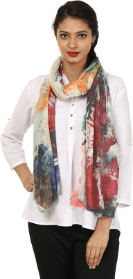 Glam Tree Printed 100% Wool Women's Stole