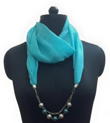 MyClosetNMore Solid, Embellished Faux Georgette Women's Scarf