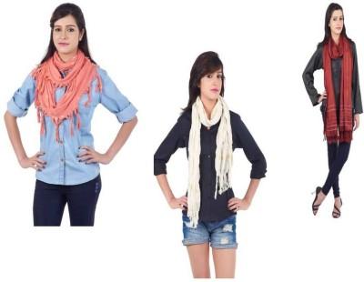 Get Wrapped Printed Viscose, Viscose, Nylon Silk Women's Scarf