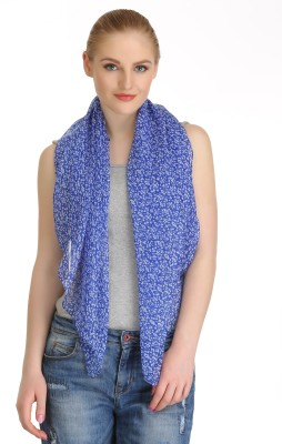 Cool Threads Floral Print Polyester Women's Scarf