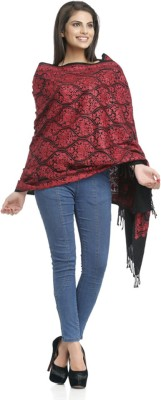 Aapno Rajasthan Embroidered 10% Pashmina, 90% Wool Women,s