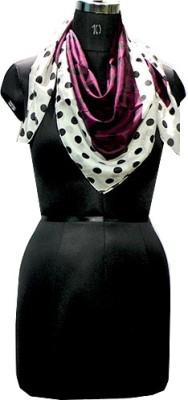Selfiwear Polka Print Silk Women's Scarf