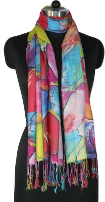 NEHANCHAL Graphic Print Viscose Women's Scarf