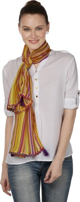 InSyync Striped Cotton Women's Scarf