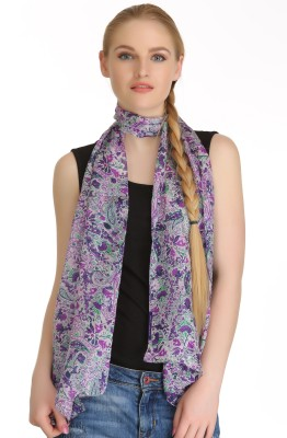 Coolthreads Floral Print Silk Women's Scarf