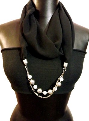 Smoky Embellished Cotton Women's Scarf