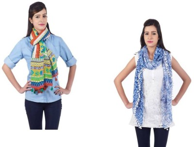 Get Wrapped Printed Viscose, Polyester Women's Scarf