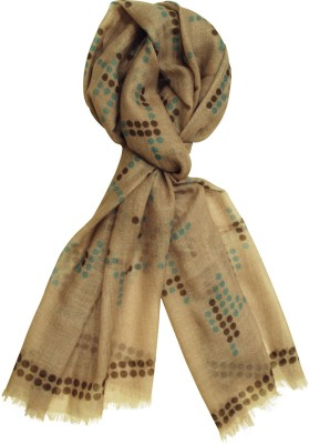 Pale Blue Dot Printed Wool Women's Scarf