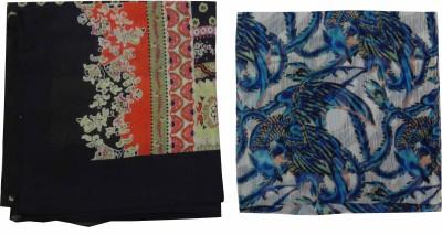 Polipilla Printed polyester, cotton Women's Scarf