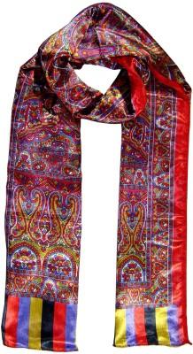 Saffron Craft Printed Satin Silk Women,s, Girl's Stole