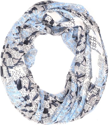 IRACC Floral Print Polyester Women's Scarf
