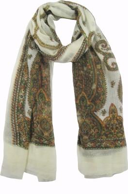 Cashmere Craft Printed 85% Wool, 15% Silk Women,s Scarf