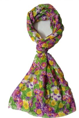Cherry Berry Floral Print polyster Women's Stole
