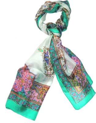 Indian Fashion Guru Printed Silk Womens Stole