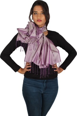 True Fashion Solid 100% Silk Women's Scarf