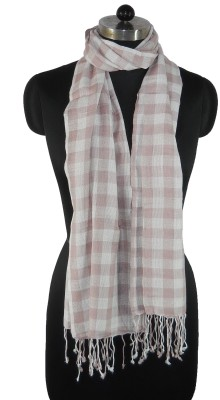 NEHANCHAL Checkered Viscose Womens Stole