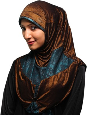 Parvin Solid Polyester stretchable Women's Scarf