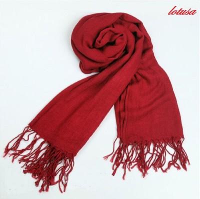 Lotusa Solid cotton Women's Scarf