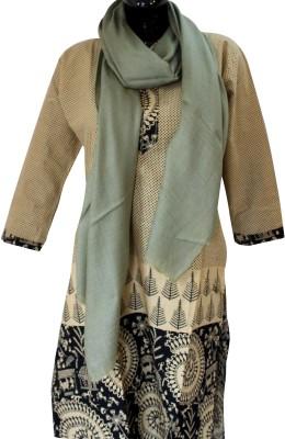 Baba Handicrafts Solid Pashmina-Wool Women's Stole