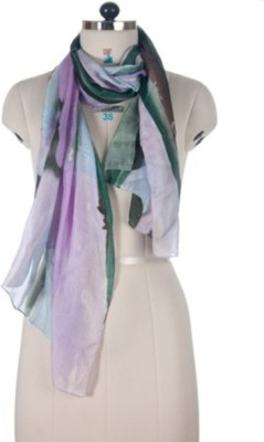 DC Concepts Printed Silk Women's Scarf