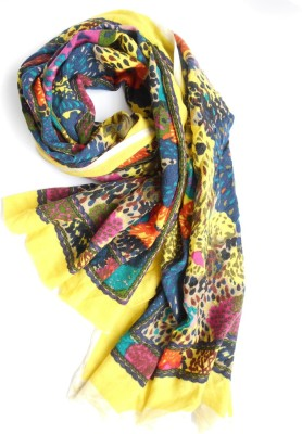 Wool Scarf Printed Wool Women's Scarf