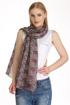 COOL THREADS Floral Print COTTON Women's Scarf