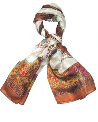 Indian Fashion Guru Printed Silk Womens Stole
