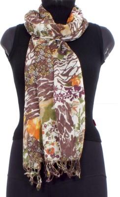 Trendif Floral Print Viscose Women's Stole